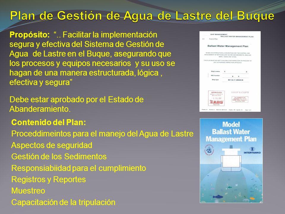 Plan de Gestión de Agua de Lastre del Buque