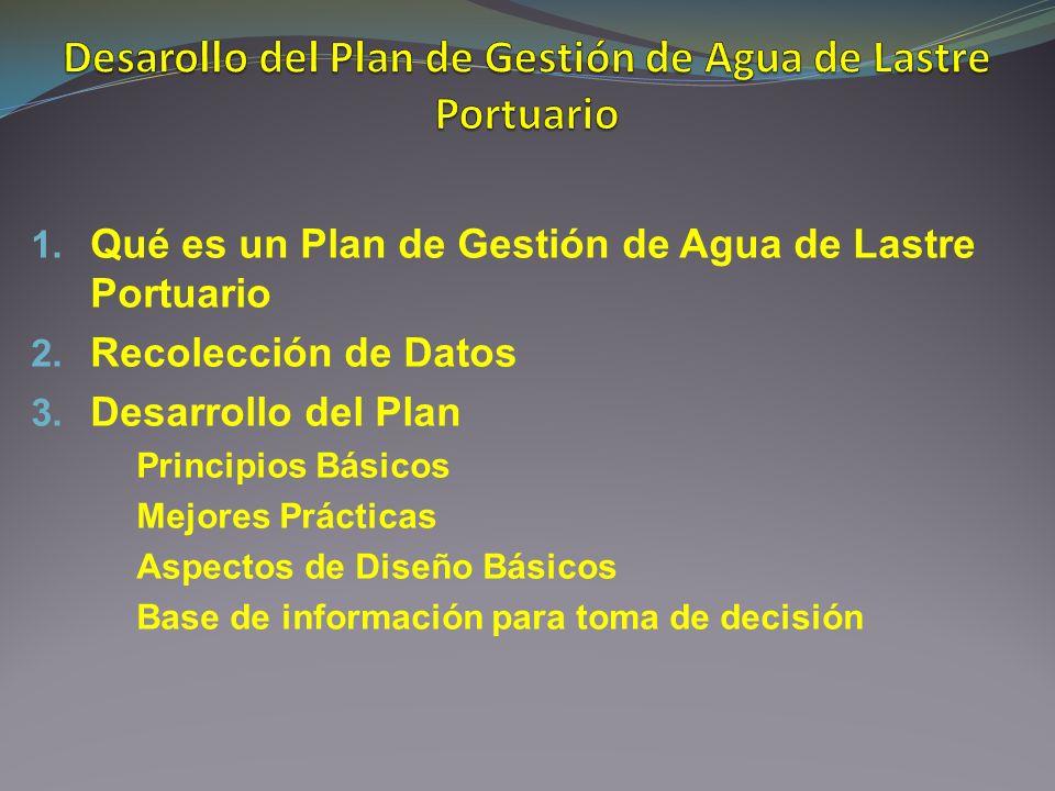 Desarollo del Plan de Gestión de Agua de Lastre Portuario