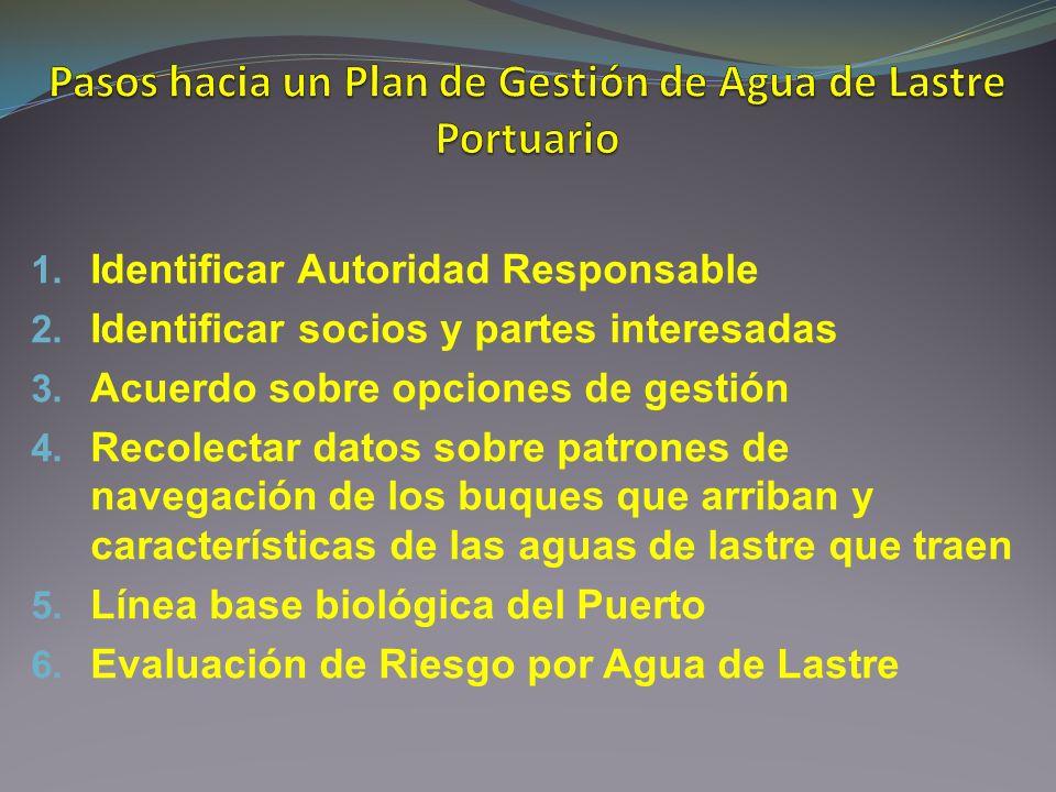 Pasos hacia un Plan de Gestión de Agua de Lastre Portuario