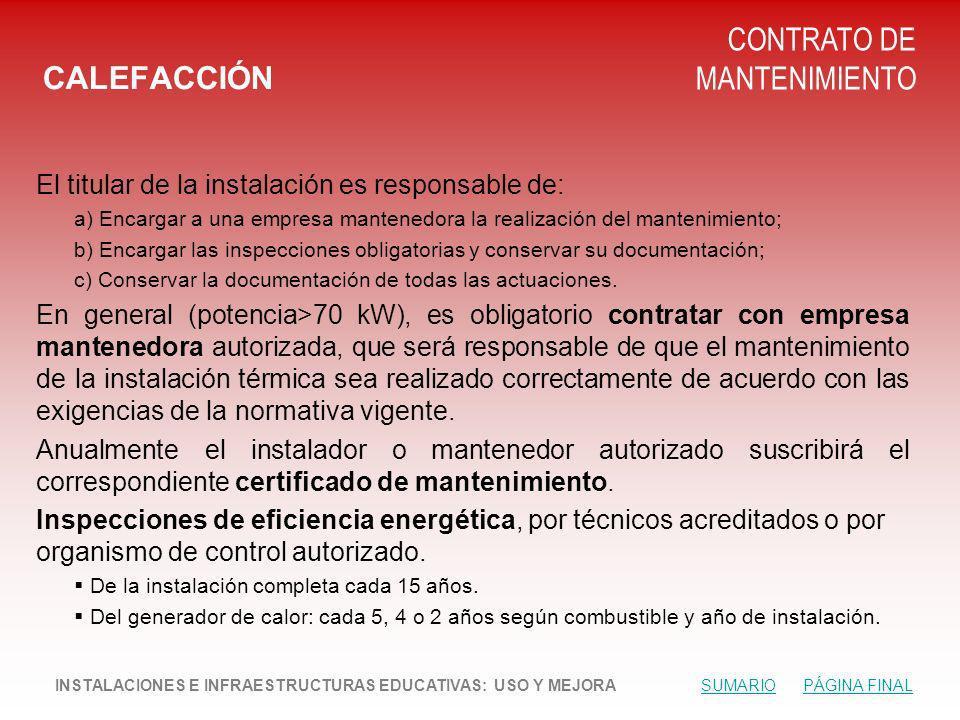 CONTRATO DE MANTENIMIENTO CALEFACCIÓN