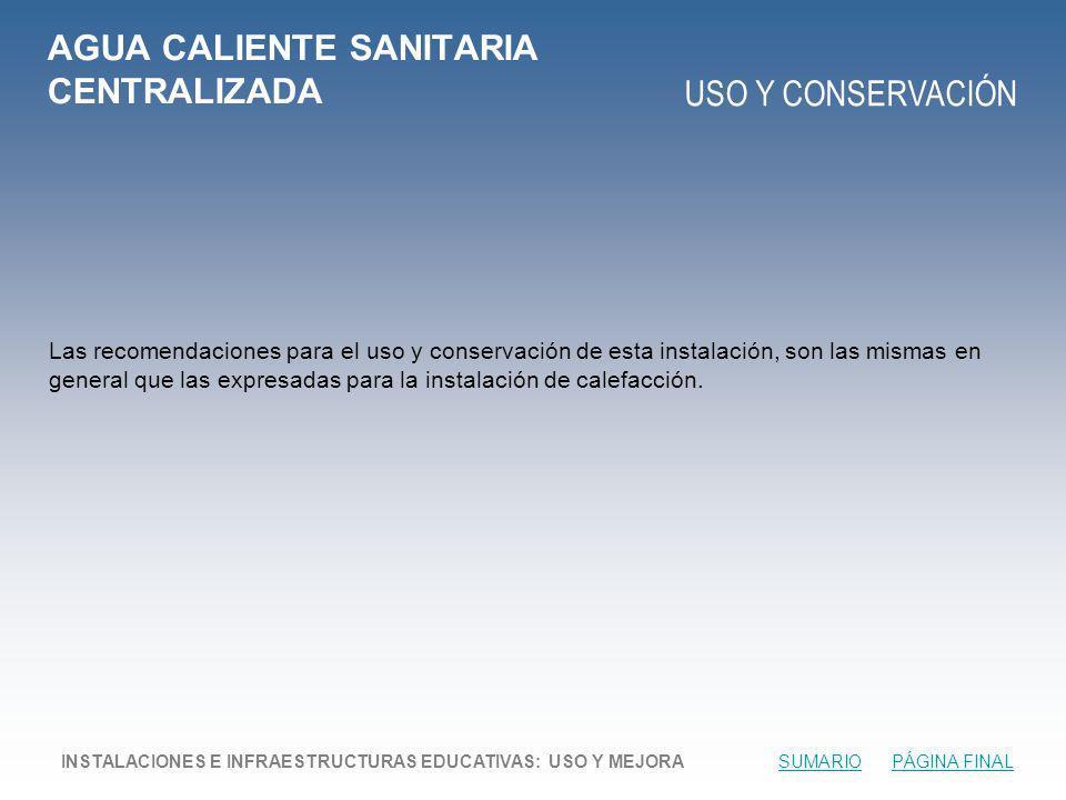 AGUA CALIENTE SANITARIA CENTRALIZADA