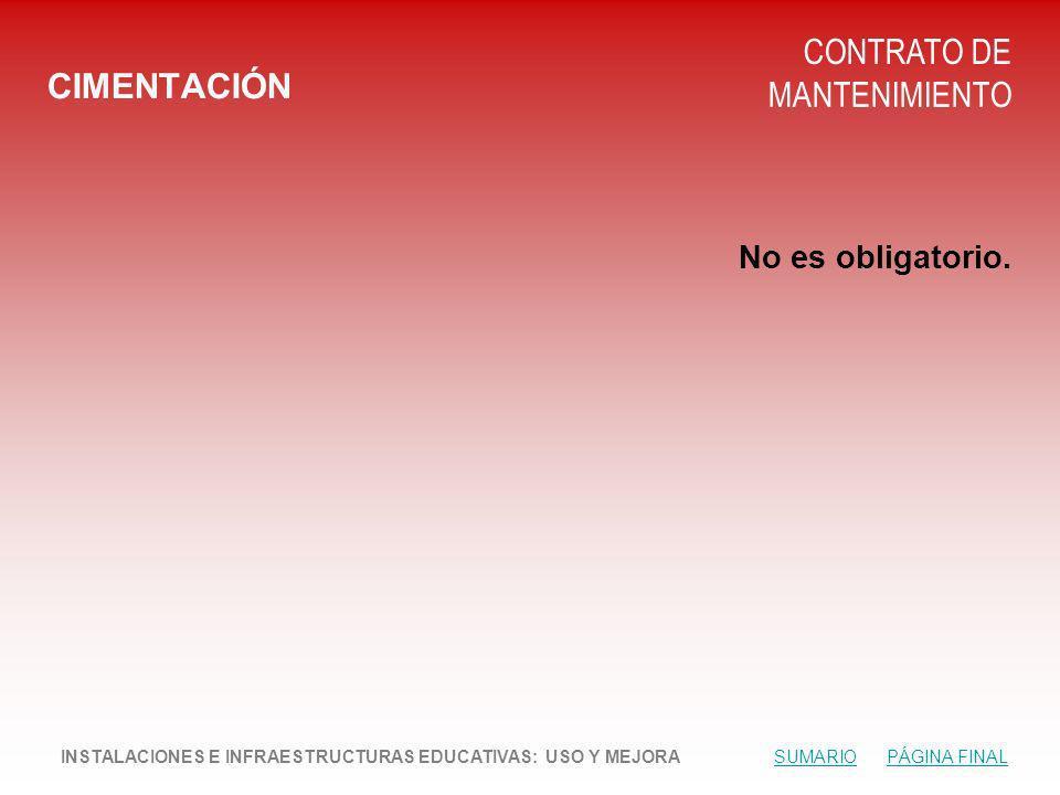 CONTRATO DE MANTENIMIENTO CIMENTACIÓN