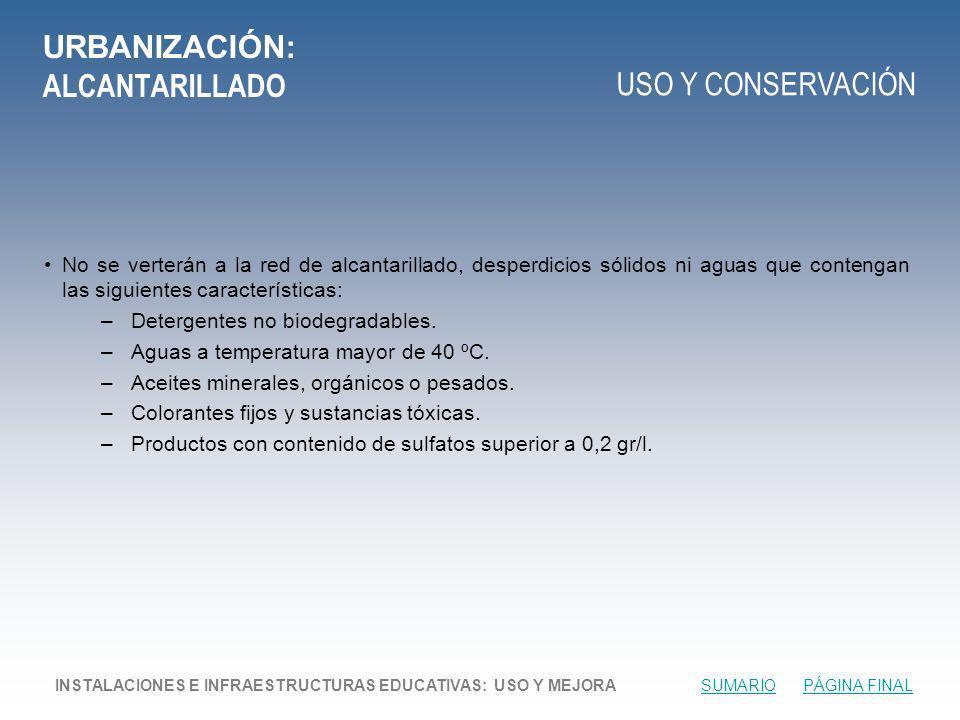URBANIZACIÓN: ALCANTARILLADO