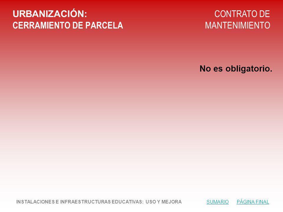 URBANIZACIÓN: CERRAMIENTO DE PARCELA
