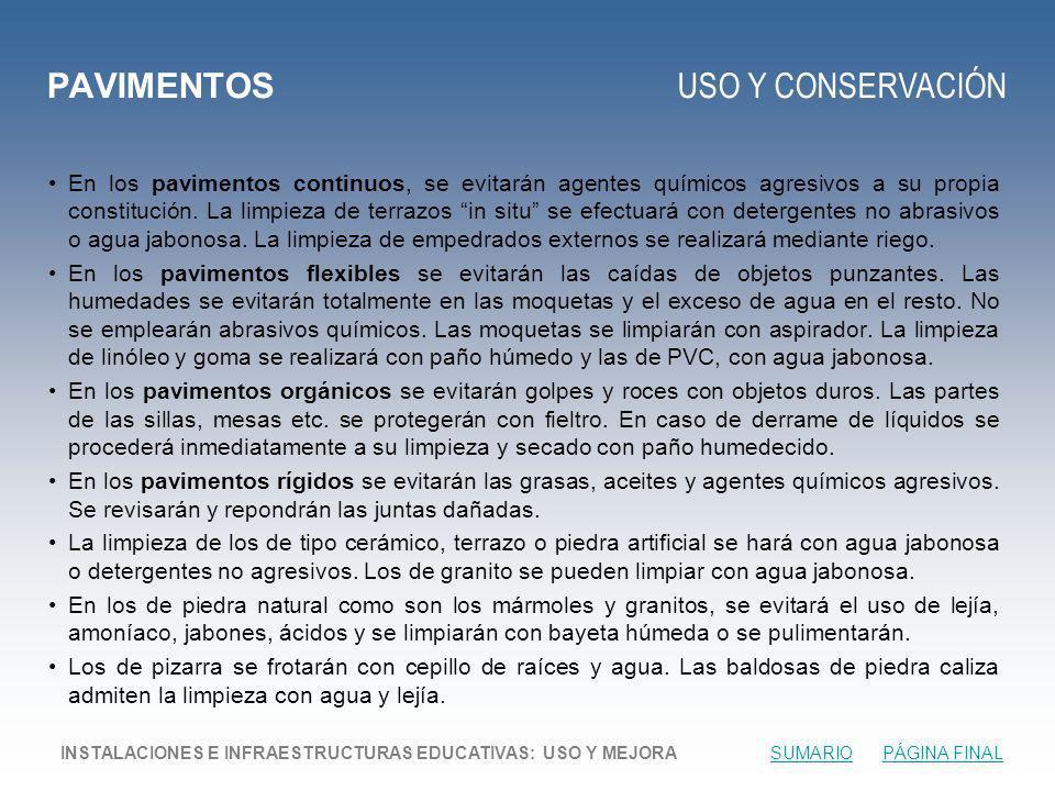 PAVIMENTOS USO Y CONSERVACIÓN