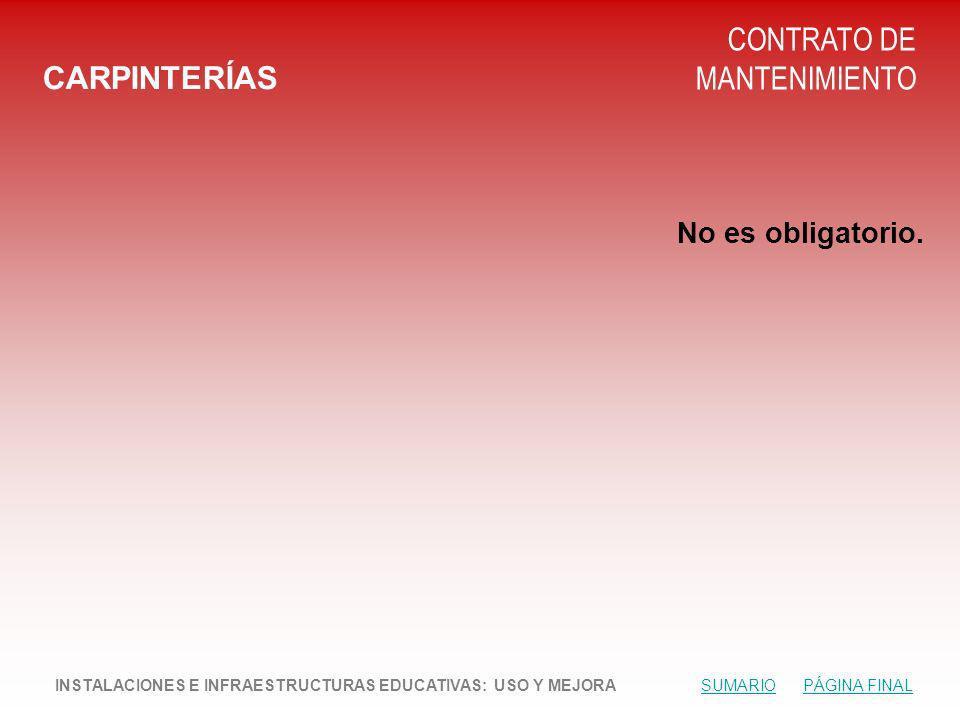 CONTRATO DE MANTENIMIENTO CARPINTERÍAS