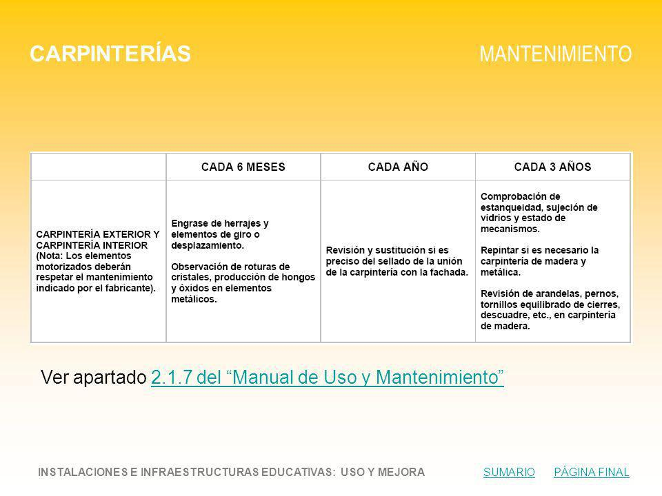 CARPINTERÍAS MANTENIMIENTO
