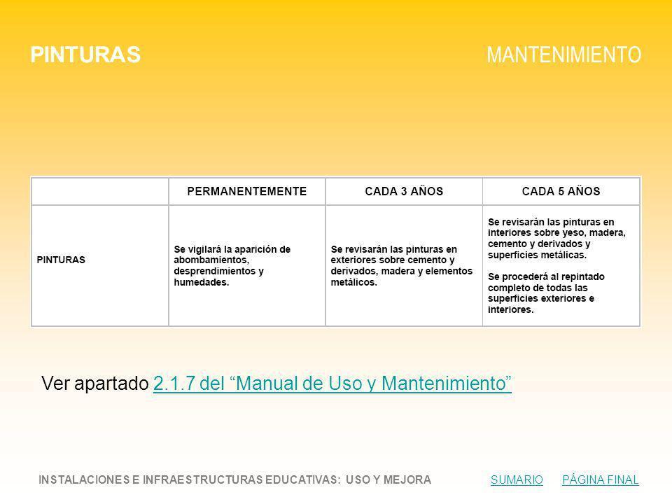 PINTURAS MANTENIMIENTO