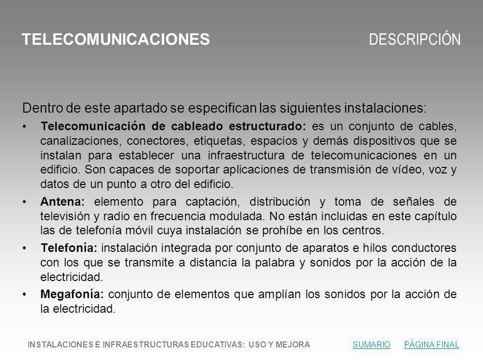 TELECOMUNICACIONES DESCRIPCIÓN