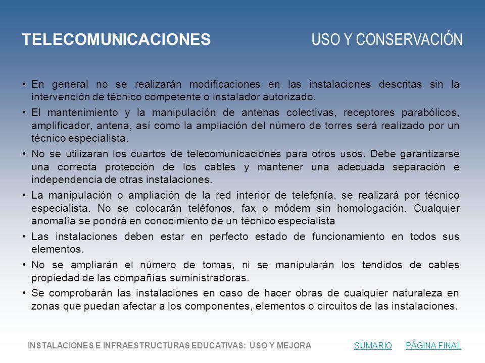 TELECOMUNICACIONES USO Y CONSERVACIÓN