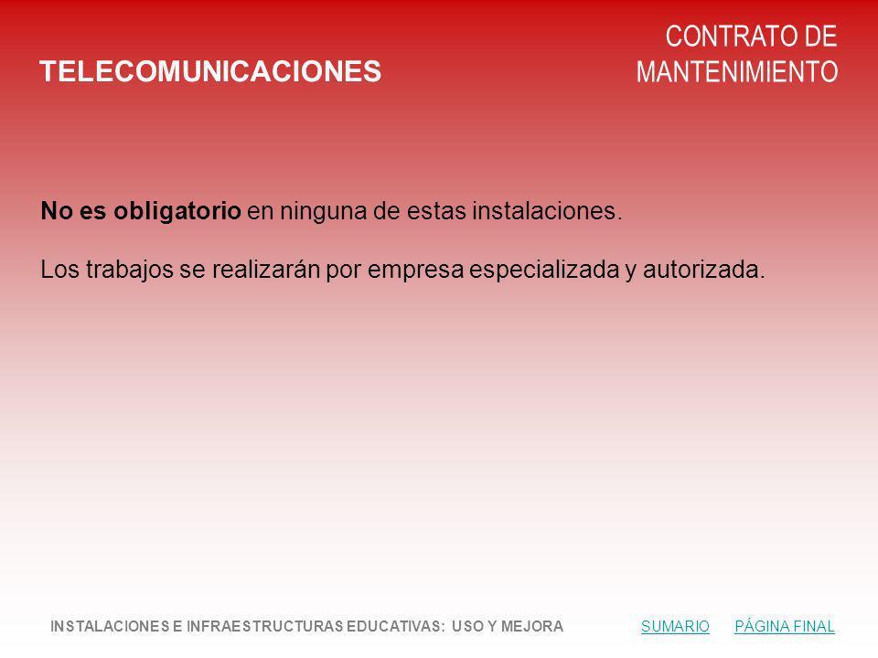 CONTRATO DE MANTENIMIENTO TELECOMUNICACIONES