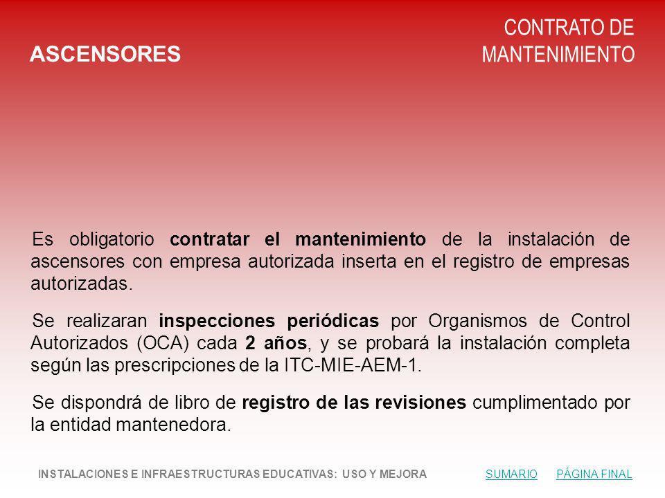 CONTRATO DE MANTENIMIENTO ASCENSORES
