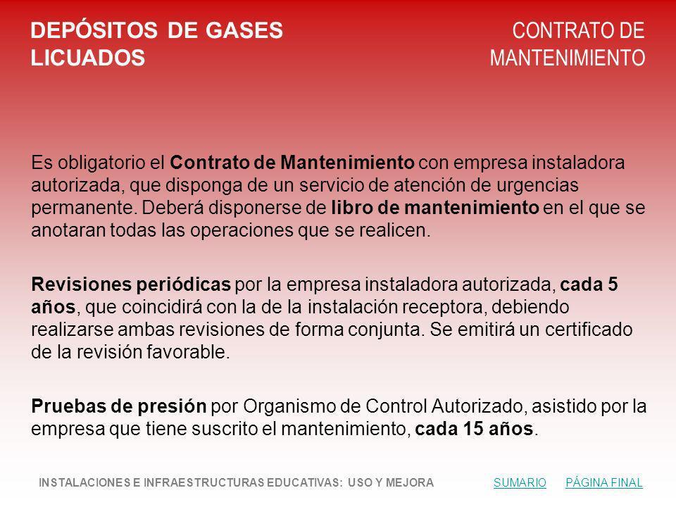 DEPÓSITOS DE GASES LICUADOS