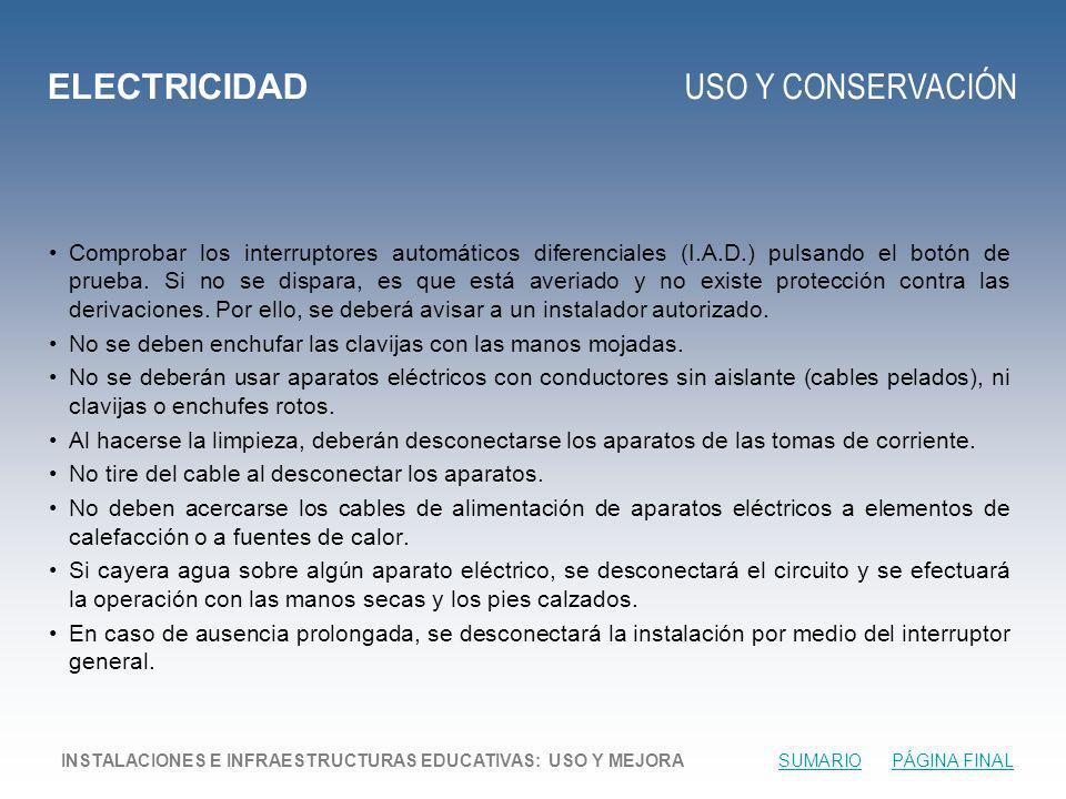 ELECTRICIDAD USO Y CONSERVACIÓN