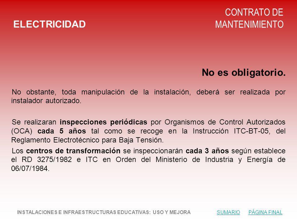 CONTRATO DE MANTENIMIENTO ELECTRICIDAD