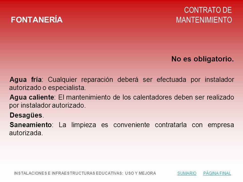 CONTRATO DE MANTENIMIENTO FONTANERÍA