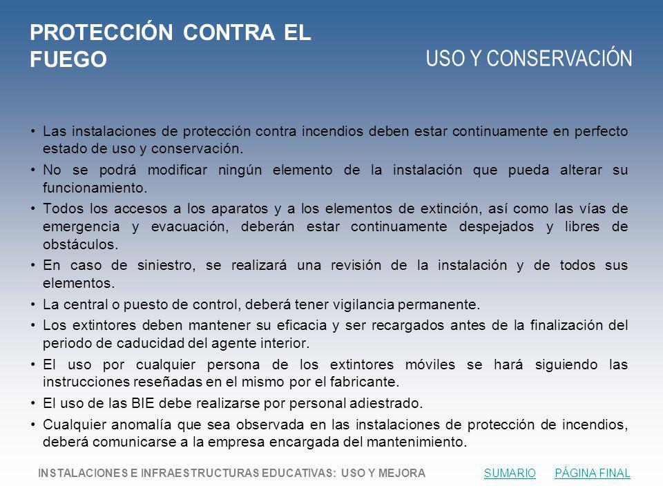 PROTECCIÓN CONTRA EL FUEGO