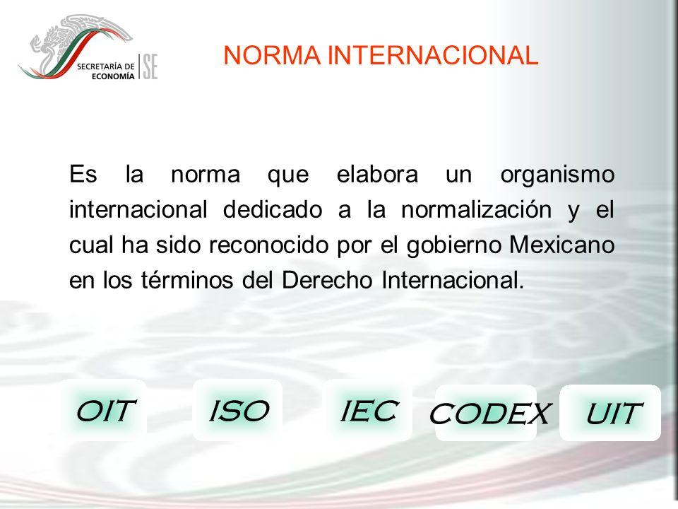 OIT ISO IEC CODEX UIT NORMA INTERNACIONAL