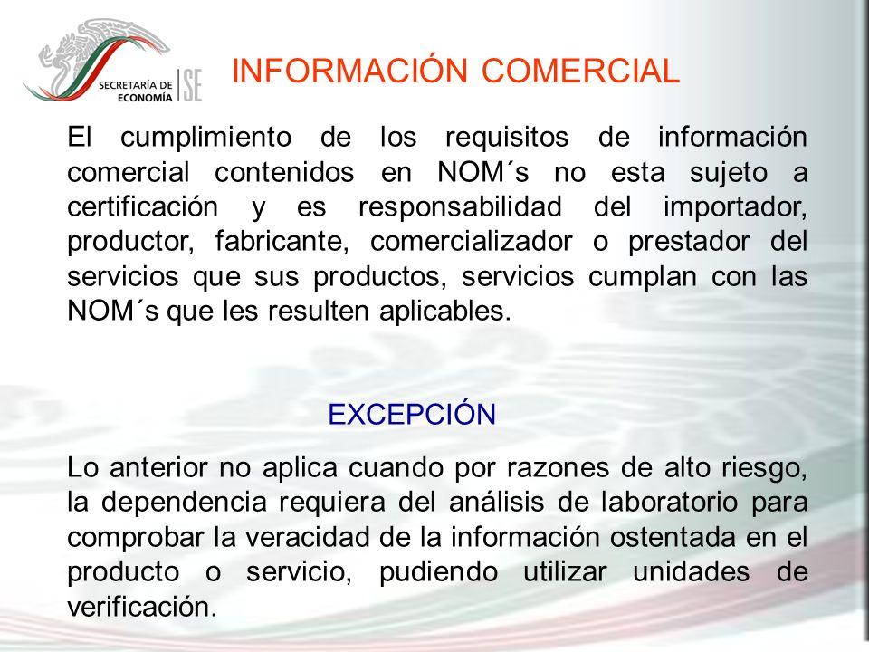 INFORMACIÓN COMERCIAL