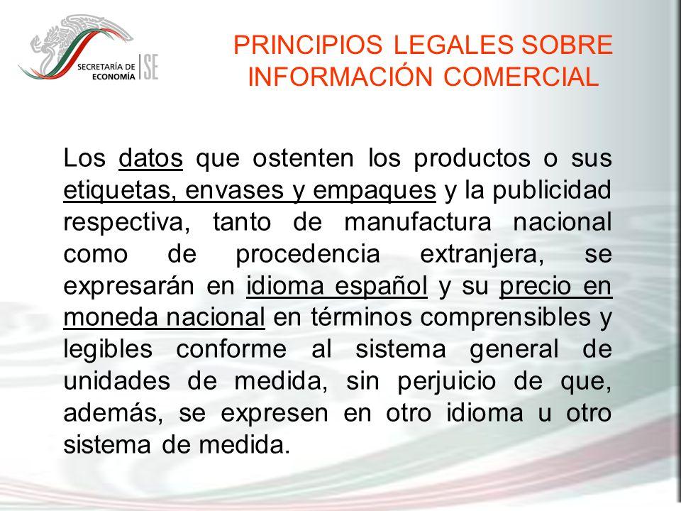 PRINCIPIOS LEGALES SOBRE INFORMACIÓN COMERCIAL