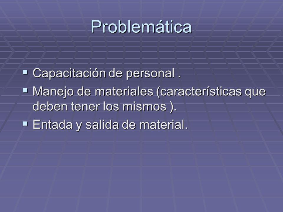 Problemática Capacitación de personal .