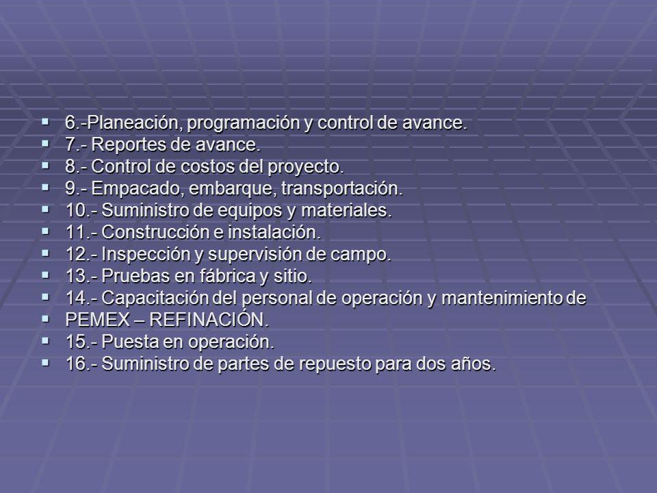 6.-Planeación, programación y control de avance.