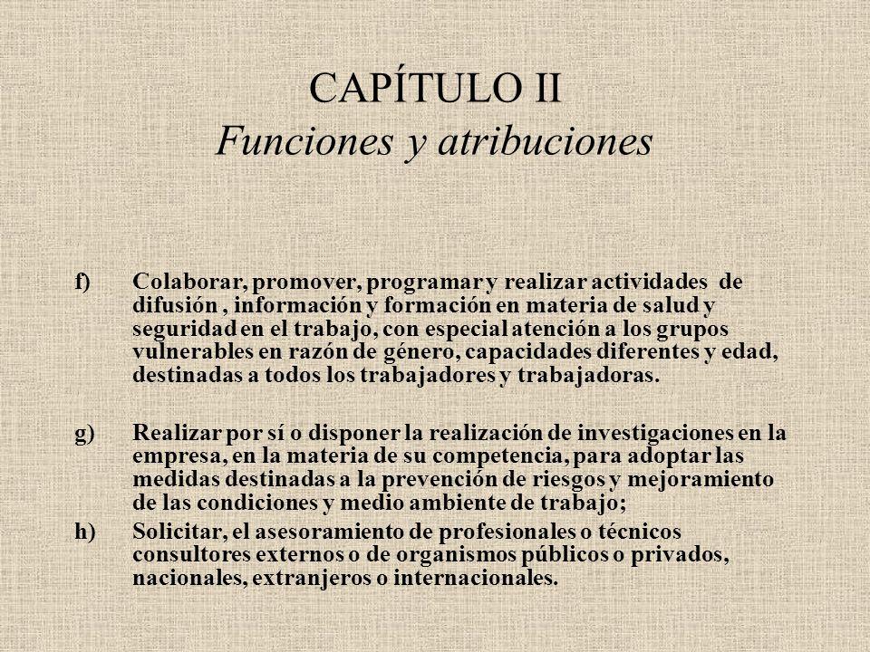 CAPÍTULO II Funciones y atribuciones