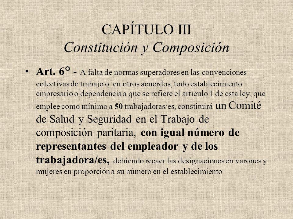 CAPÍTULO III Constitución y Composición