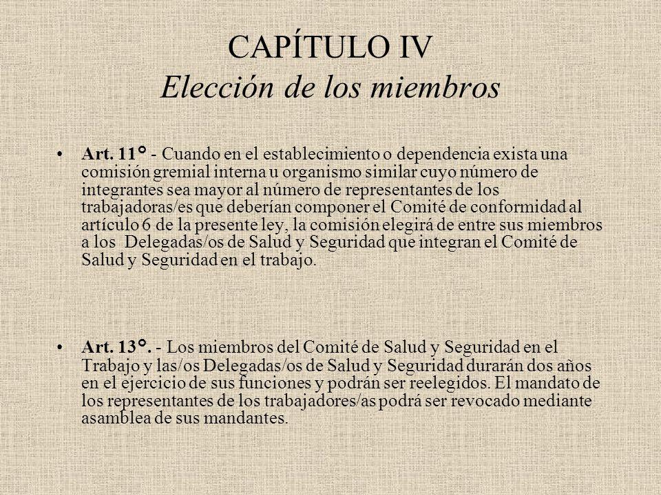 CAPÍTULO IV Elección de los miembros