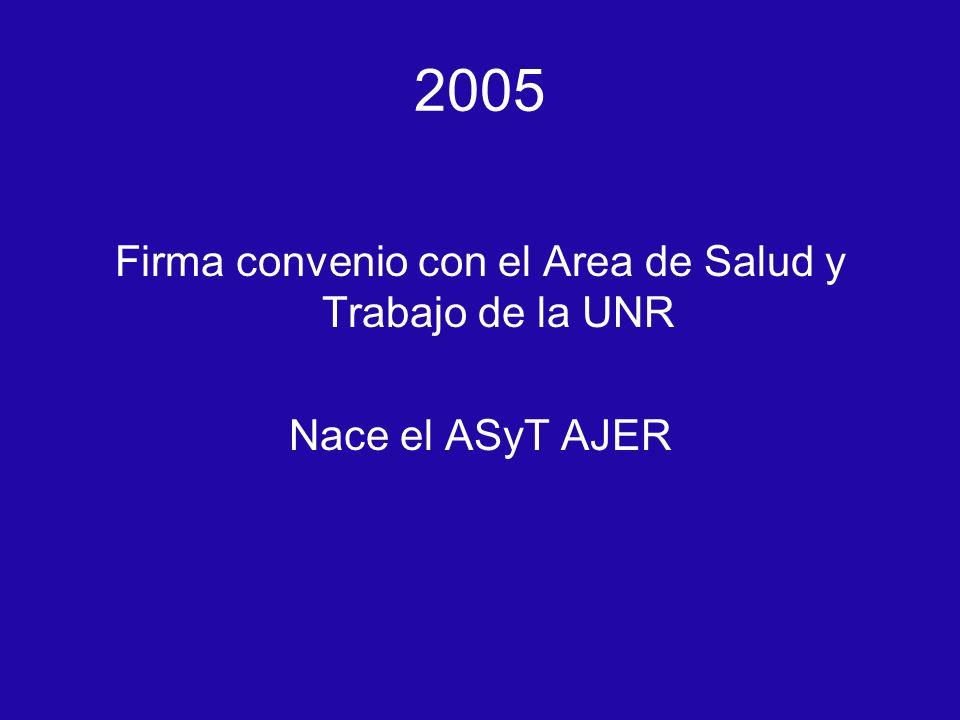Firma convenio con el Area de Salud y Trabajo de la UNR