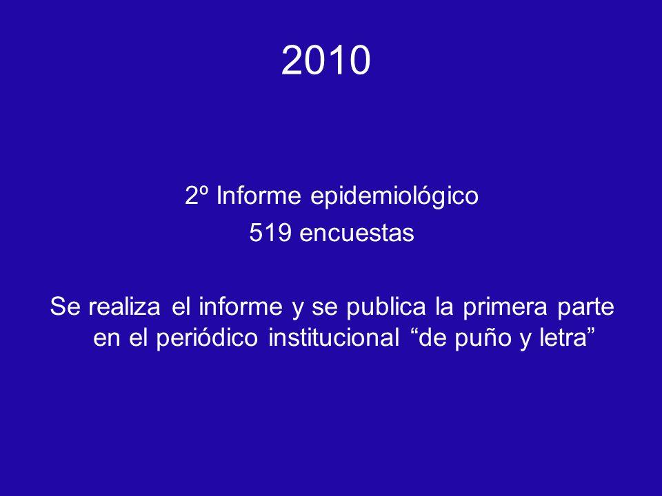 2º Informe epidemiológico