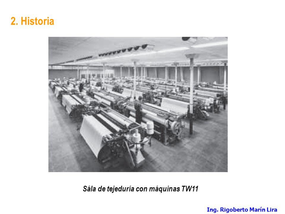 Sála de tejeduría con máquinas TW11