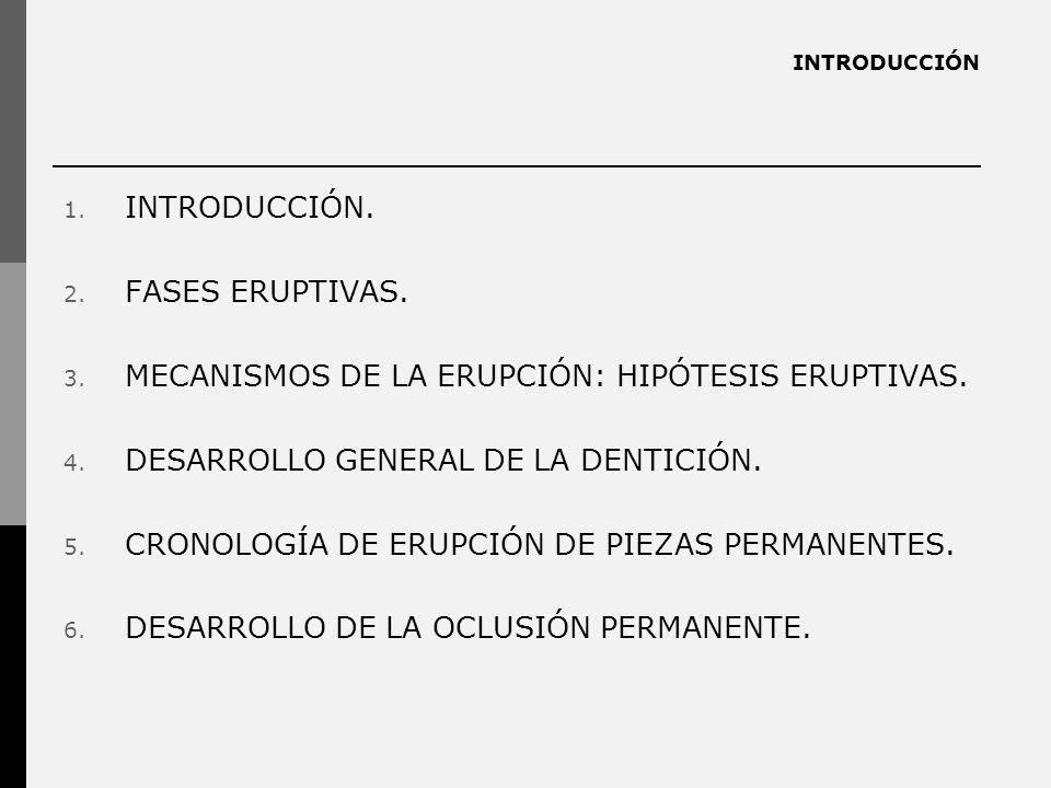 MECANISMOS DE LA ERUPCIÓN: HIPÓTESIS ERUPTIVAS.