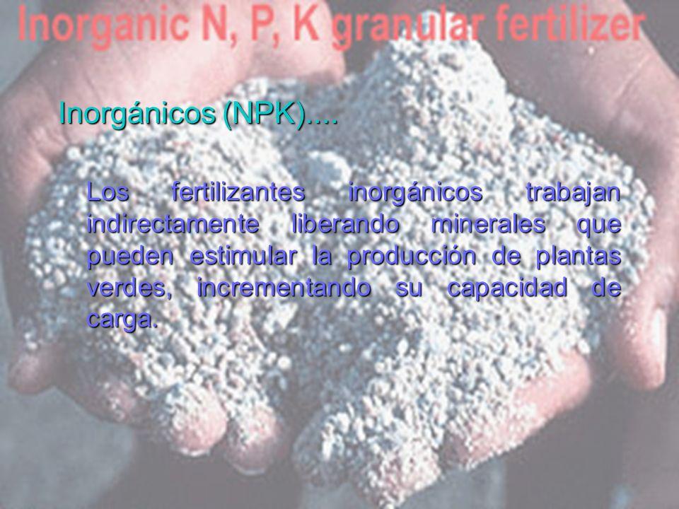 Inorgánicos (NPK)....