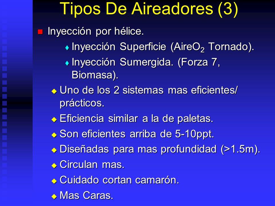 Tipos De Aireadores (3) Inyección por hélice.