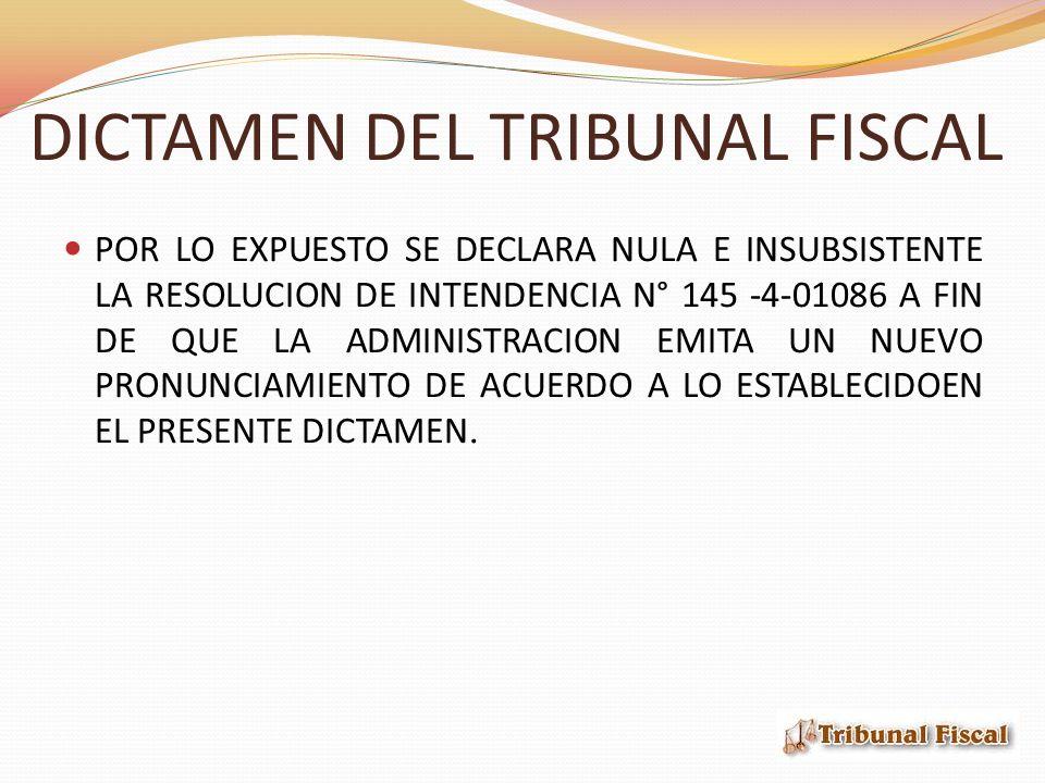 DICTAMEN DEL TRIBUNAL FISCAL