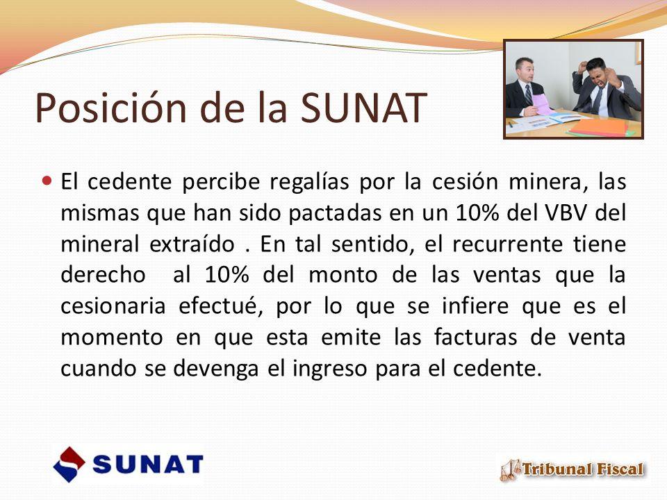 Posición de la SUNAT