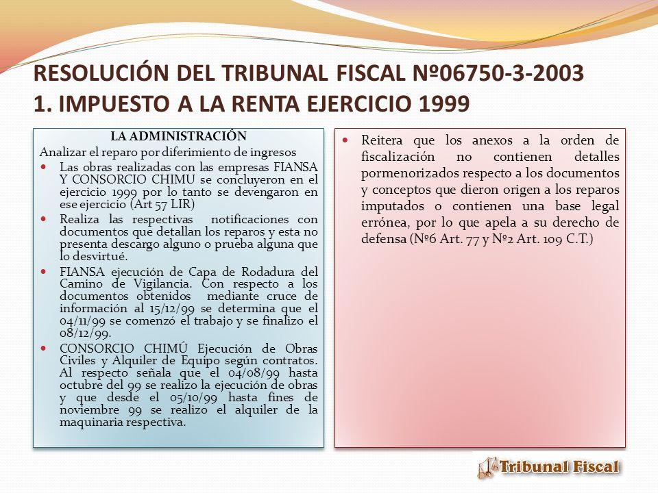 RESOLUCIÓN DEL TRIBUNAL FISCAL Nº06750-3-2003 1