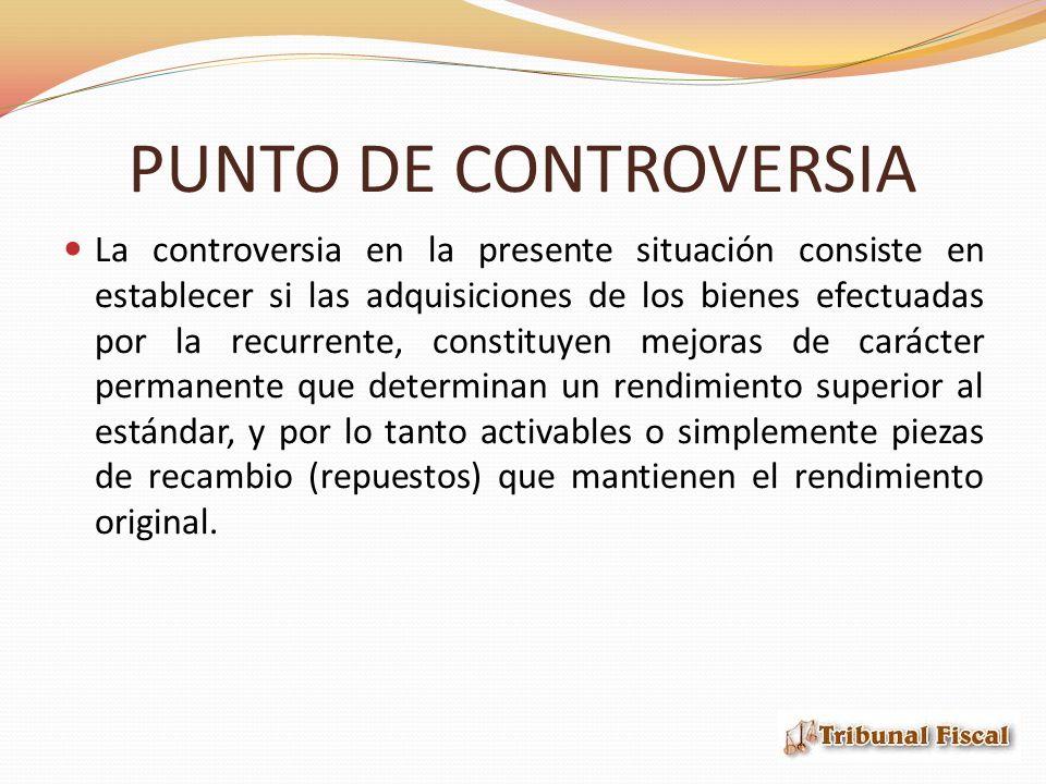 PUNTO DE CONTROVERSIA