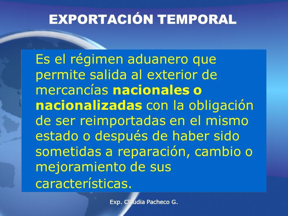 EXPORTACIÓN TEMPORAL