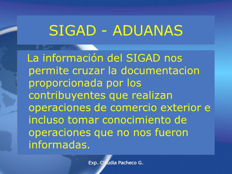 SIGAD - ADUANAS