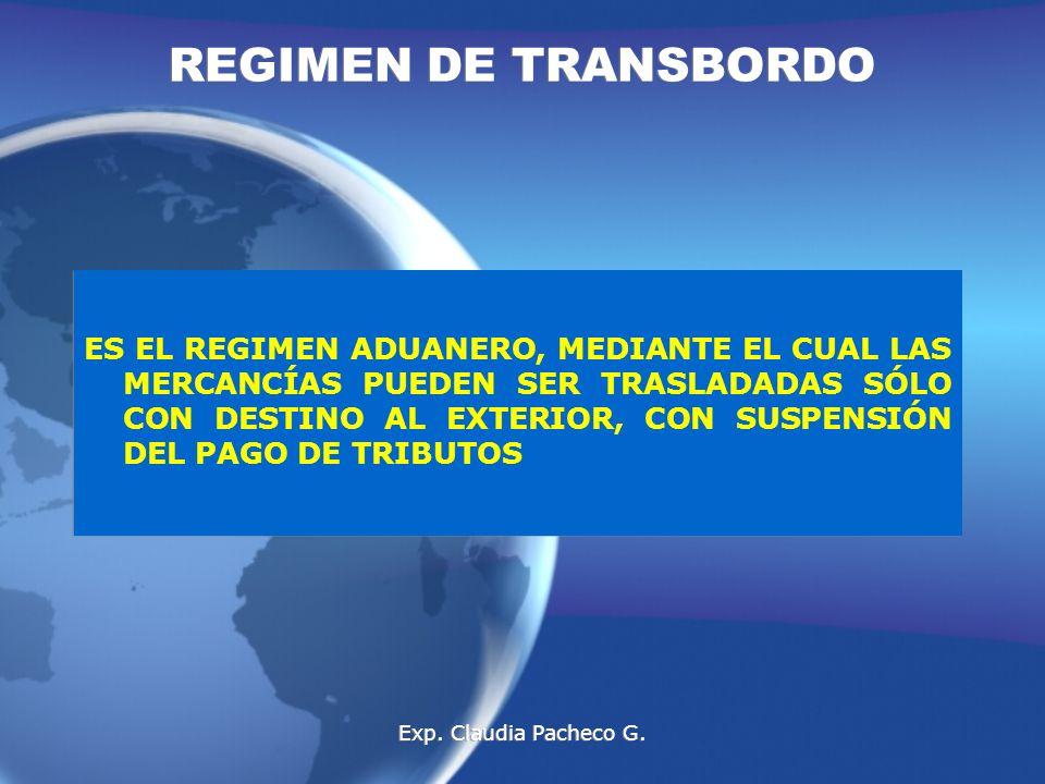REGIMEN DE TRANSBORDO