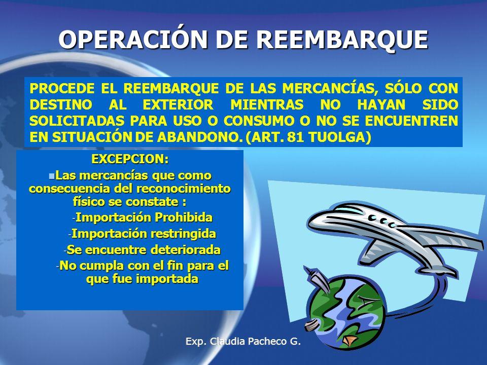 OPERACIÓN DE REEMBARQUE
