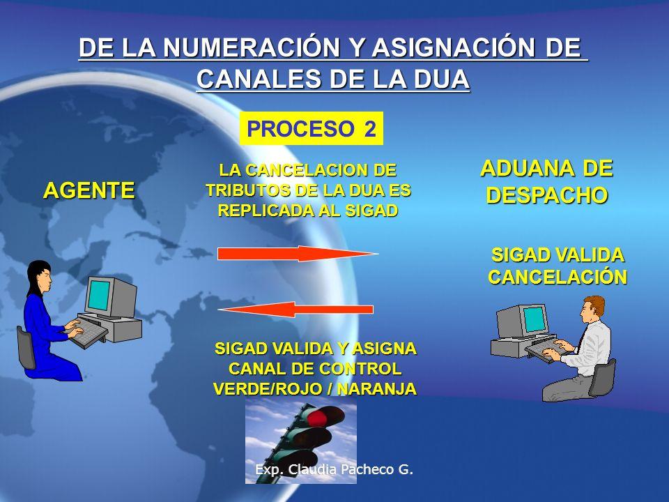 DE LA NUMERACIÓN Y ASIGNACIÓN DE CANALES DE LA DUA