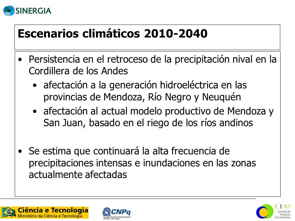 Escenarios climáticos 2010-2040