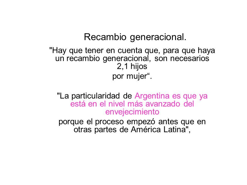Recambio generacional.