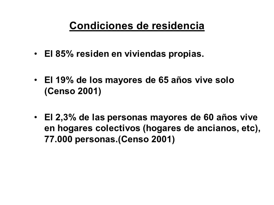 Condiciones de residencia