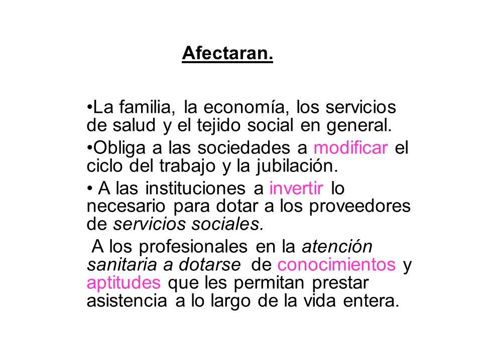 Afectaran. La familia, la economía, los servicios de salud y el tejido social en general.