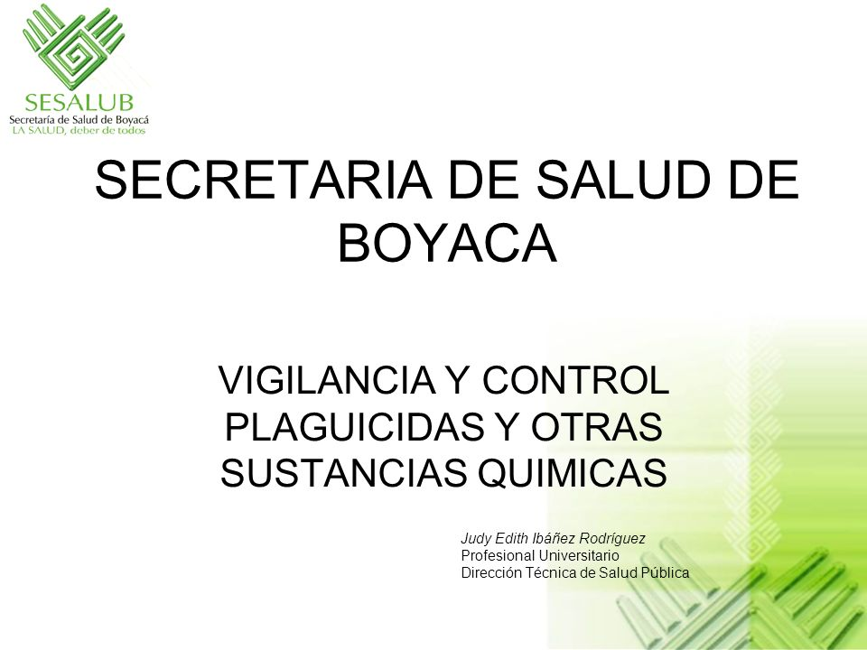 SECRETARIA DE SALUD DE BOYACA