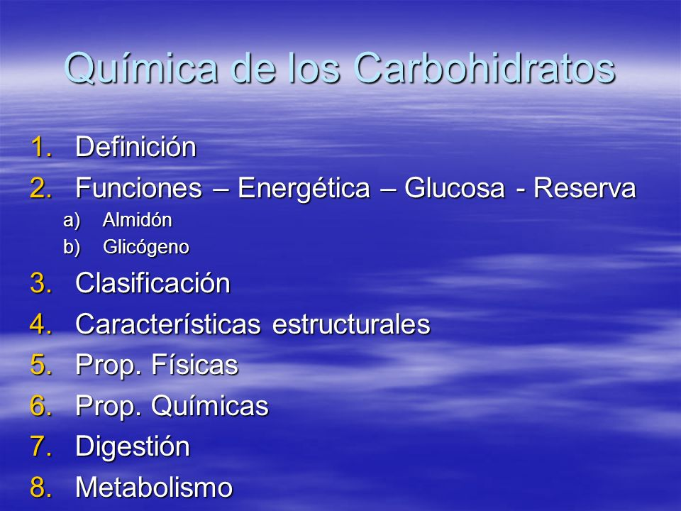 Química de los Carbohidratos